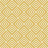 Vector golden background. Seamless geometric creative pattern.