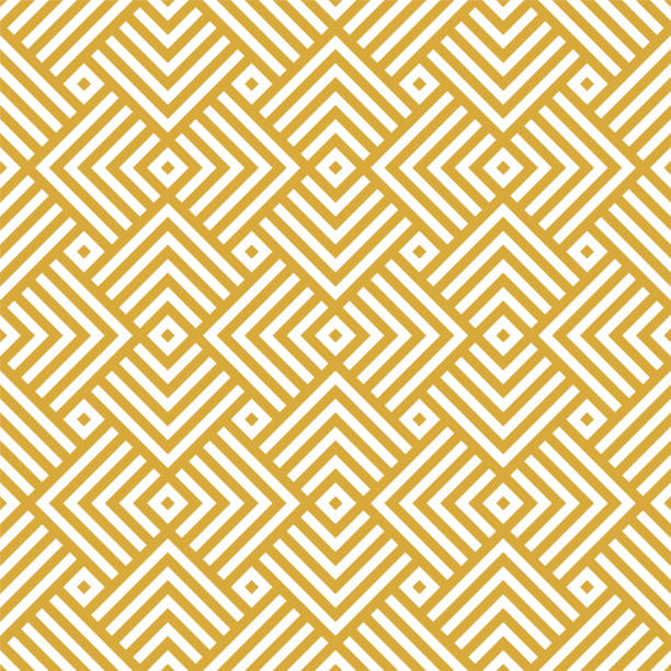 vector golden background. seamless geometric pattern - tile pattern stock illustrations, clip art, cartoons, & icons