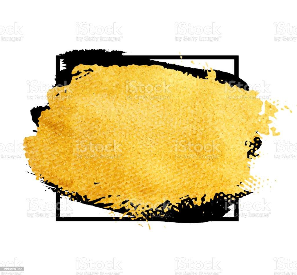 Vektor Goldenen Pinsel Strich Banner Für Sie Erstaunliche ...