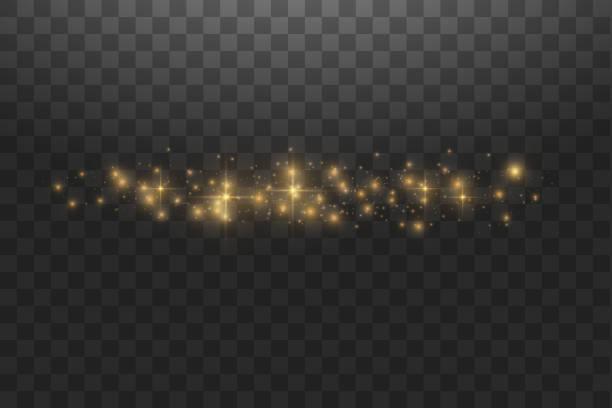 illustrations, cliparts, dessins animés et icônes de vecteur d'or nuage paillettes vague illustration abstraite. traînée de poussière d'étoile blanche des particules scintillantes isolées sur le fond transparent. concept magique - partie du corps d'un animal