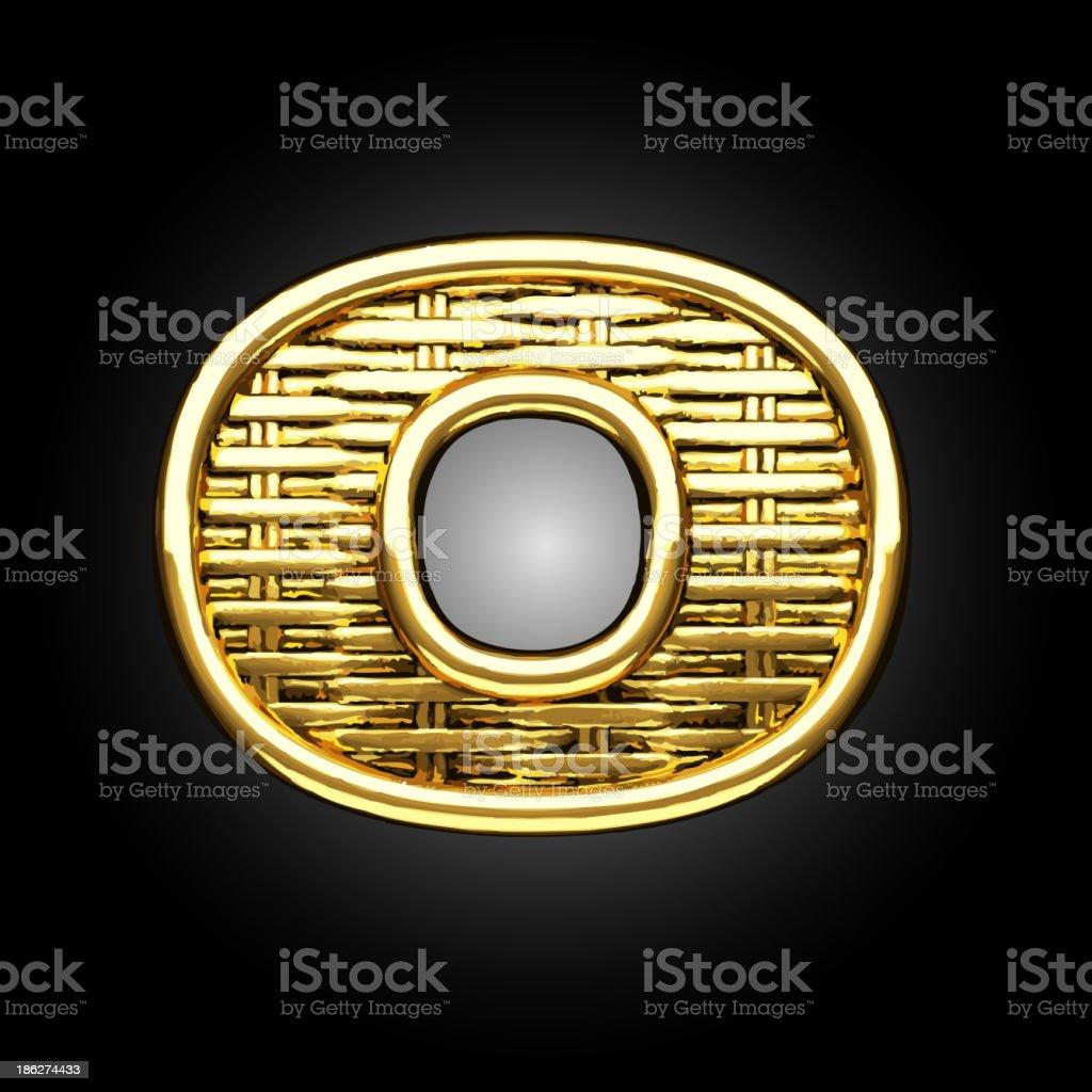 Vector golden figure o royalty-free stock vector art