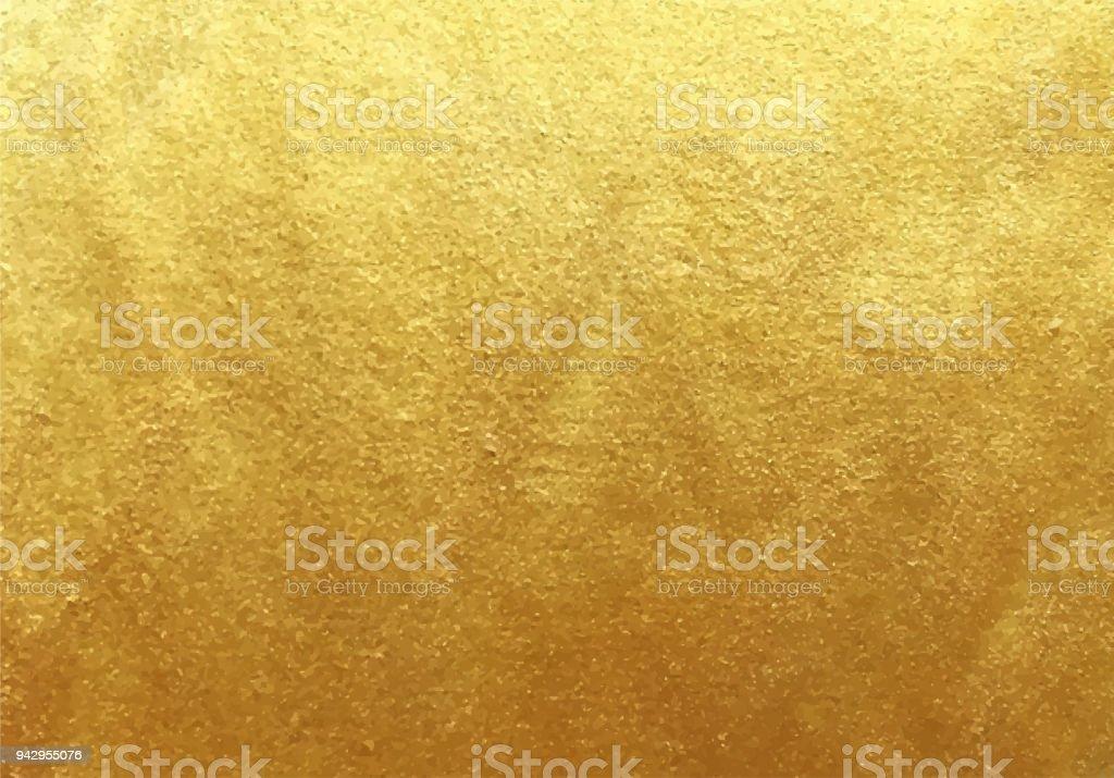 Fond de feuille d'or de vecteur - clipart vectoriel de Art libre de droits