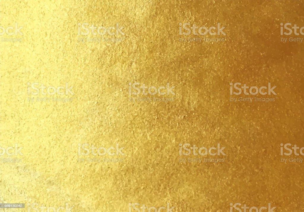 Vector golden foil background - arte vettoriale royalty-free di Anniversario