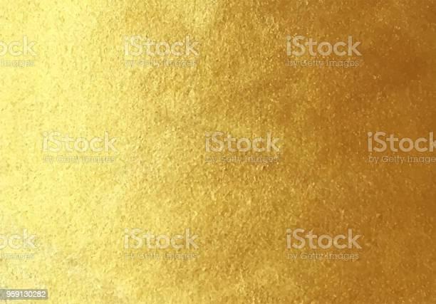 Vector Golden Foil Background - Immagini vettoriali stock e altre immagini di Anniversario