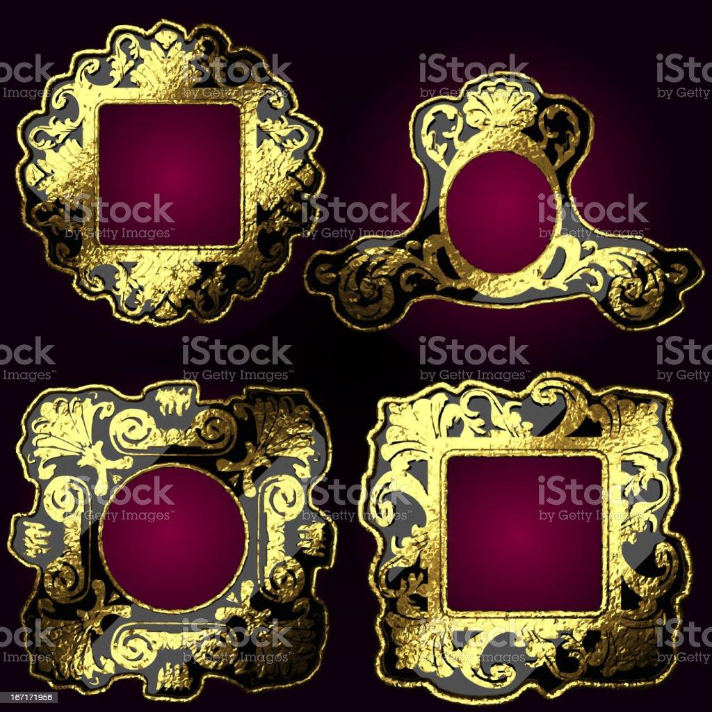 vector golden frames set royalty-free stock vector art
