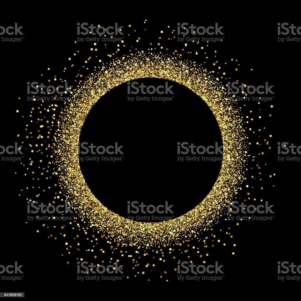 Vector golden glitter background