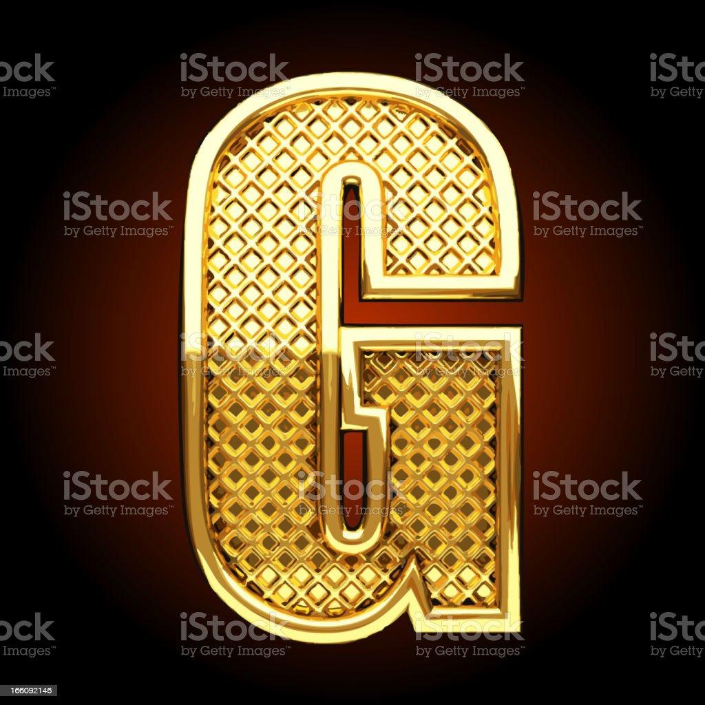 Vector golden letter G royalty-free stock vector art
