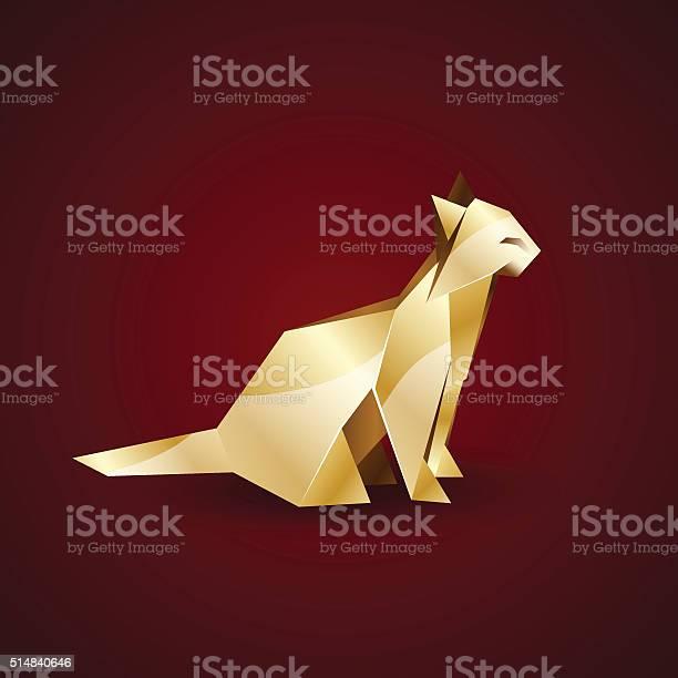 Vector golden origami cat vector id514840646?b=1&k=6&m=514840646&s=612x612&h=zbux j6axzhddeddysww0q1xssfbvgsfxxitfnrdlju=