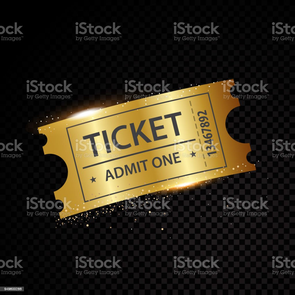 vector golden tickets and coupons templates stock vector art more