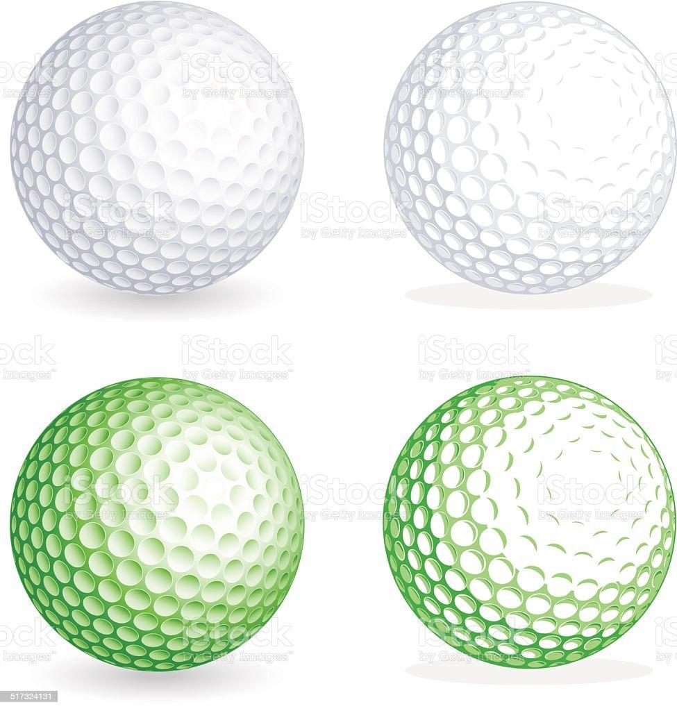 vector golf ball stock vector art more images of ball 517324131