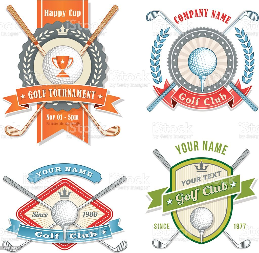 vector golf club logos stock vector art amp more images of