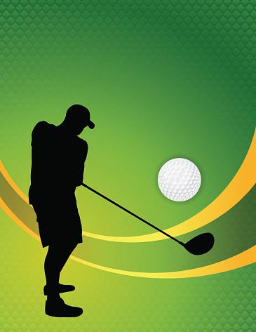 Vector Golf Theme Background Illustration