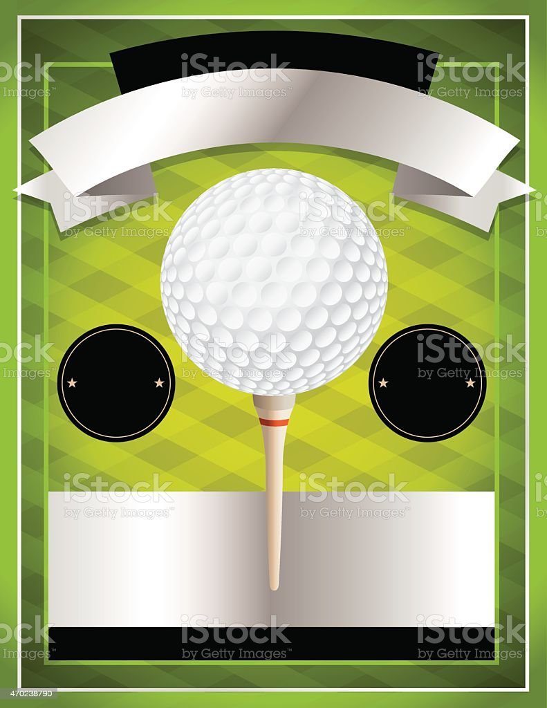 ... Vector Golf Tournament Flyer Illustration Vector Art Illustration ...
