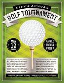 Vector Golf Tournament Flyer