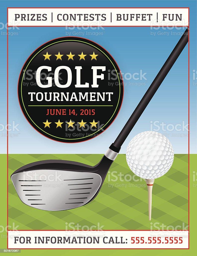 Vector Golf Tournament Flyer royalty-free stock vector art
