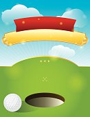 A nice design for a golf tournament invitation.  Vector EPS 10. EPS file contains transparencies and mask.