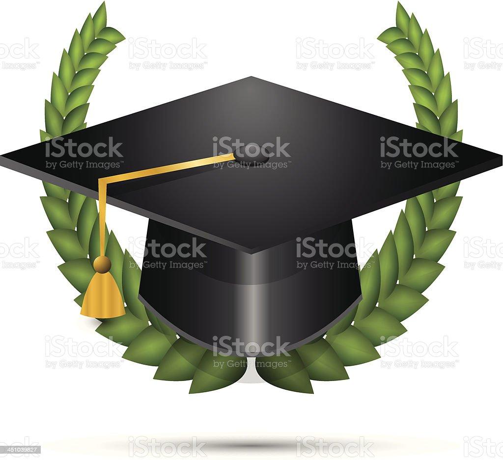 Vector de sombrero de graduación - ilustración de arte vectorial