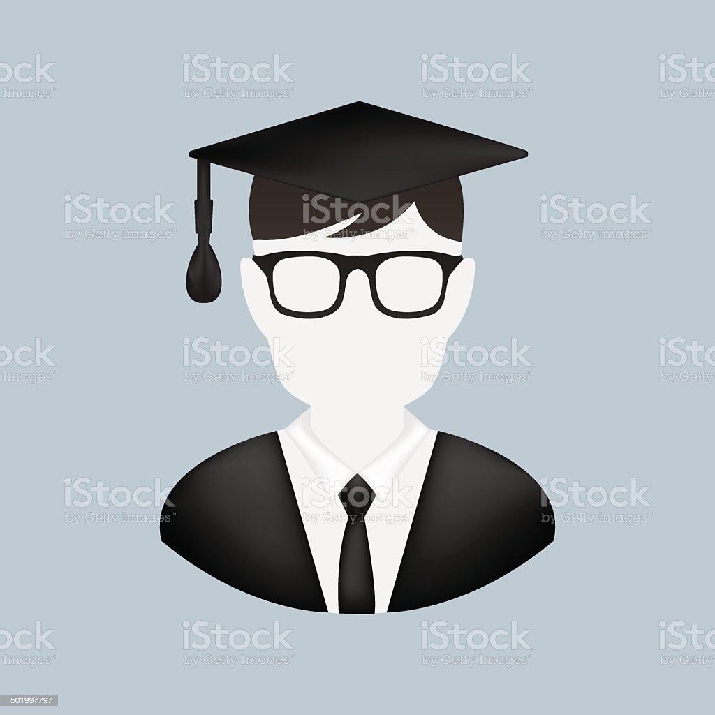 Vector Graduation Man Icon vector art illustration