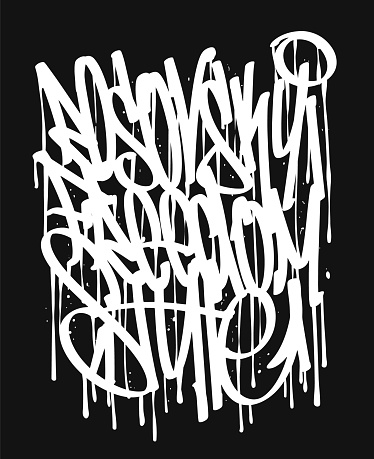 Vector Graffiti Tags Tshirt Print Design And Other Uses