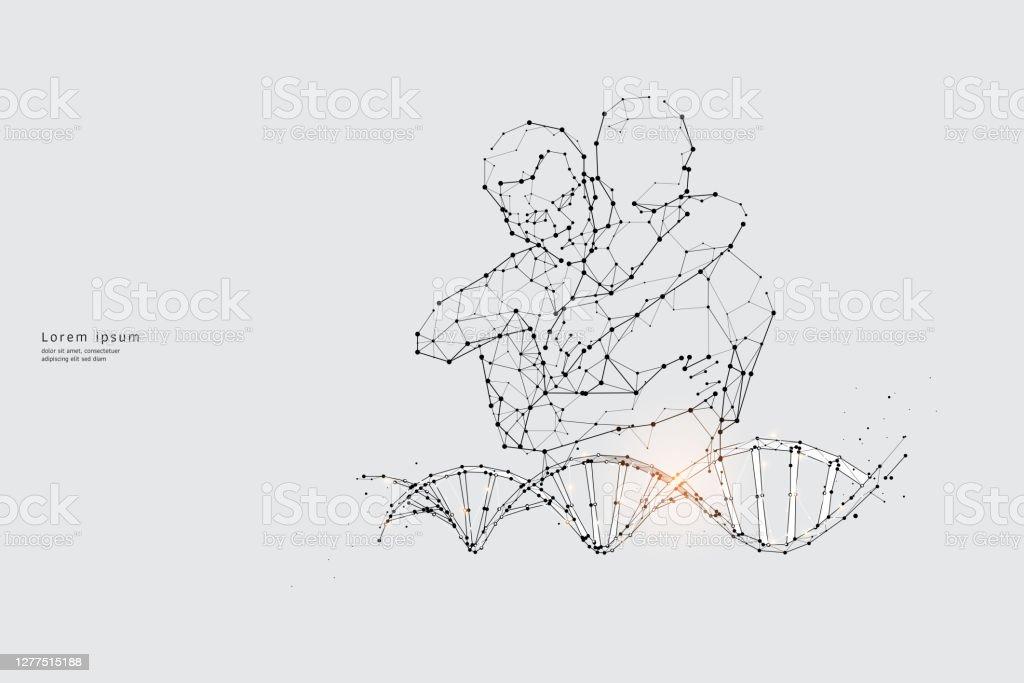 Concepto gráfico vectorial de relación - arte vectorial de ADN libre de derechos