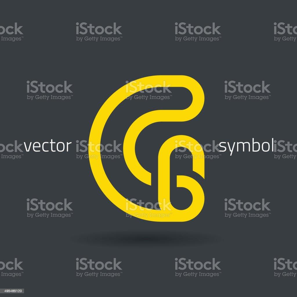 Vector graphic creative line alphabet symbol / Letter G vector art illustration