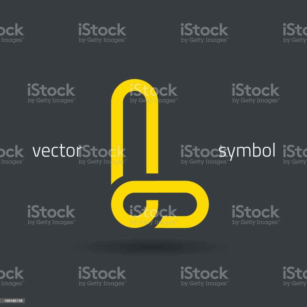 Vector graphic creative line alphabet symbol / Letter L vector art illustration