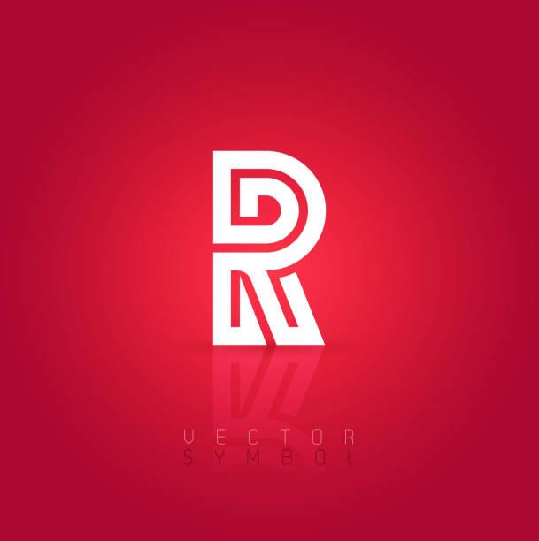 vector graphic creative line alphabet symbol letter r vector art illustration