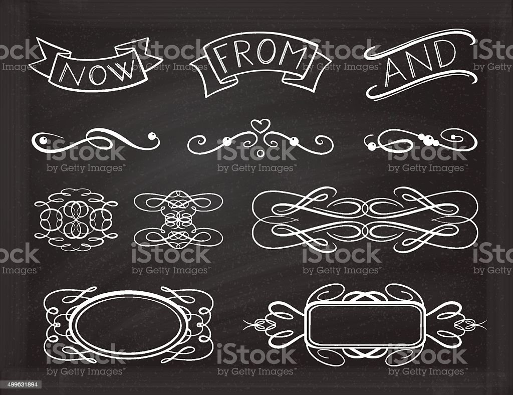 Vector graphic design elements set. vector art illustration