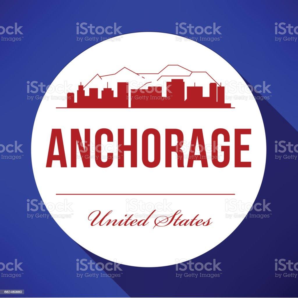 Anchorage şehir manzarası, vektör grafik tasarım royalty-free anchorage şehir manzarası vektör grafik tasarım stok vektör sanatı & abd'nin daha fazla görseli
