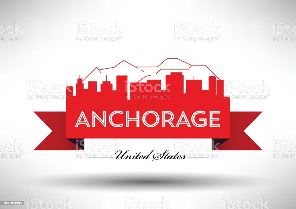 Anchorage şehir manzarası, vektör grafik tasarım royalty-free anchorage şehir manzarası vektör grafik tasarım stok vektör sanatı & daktilo yazısı'nin daha fazla görseli
