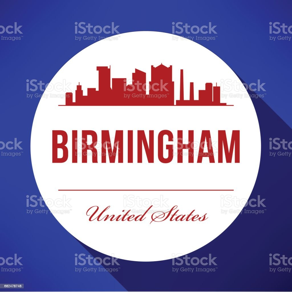 Vector Graphic Design of Birmingham City Skyline vector graphic design of birmingham city skyline - arte vetorial de stock e mais imagens de ao ar livre royalty-free