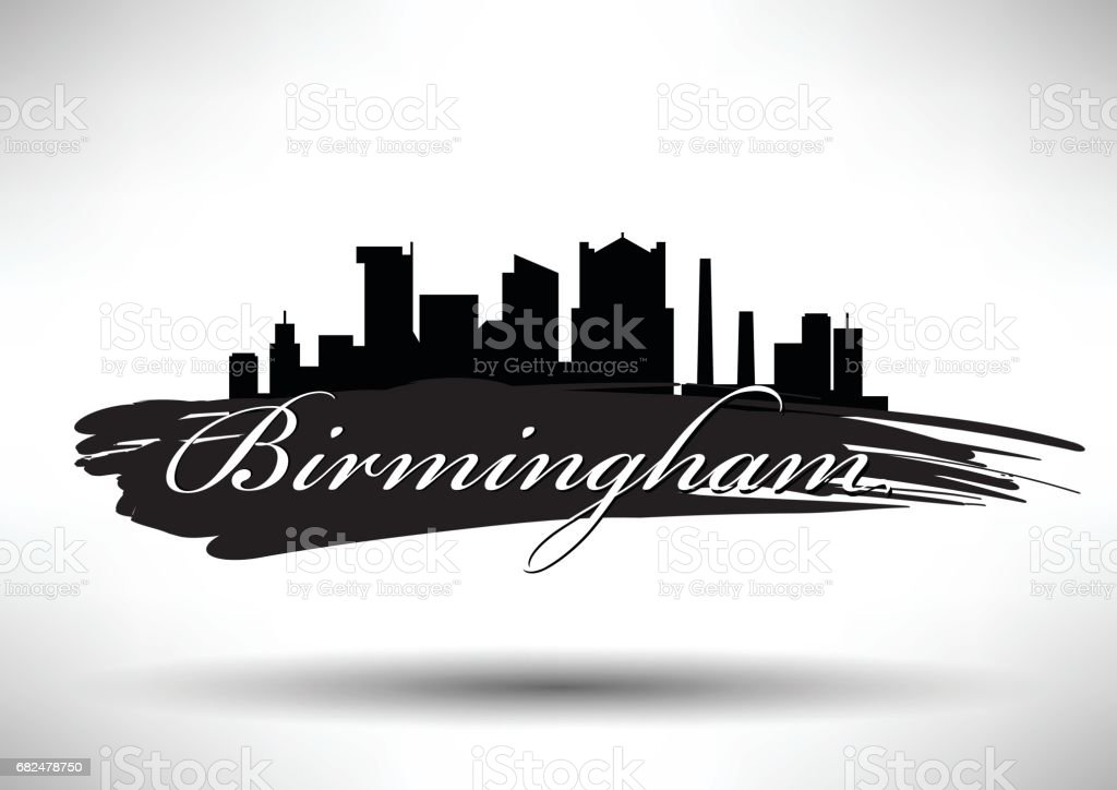 Vector Graphic Design of Birmingham City Skyline vector graphic design of birmingham city skyline - immagini vettoriali stock e altre immagini di affari royalty-free