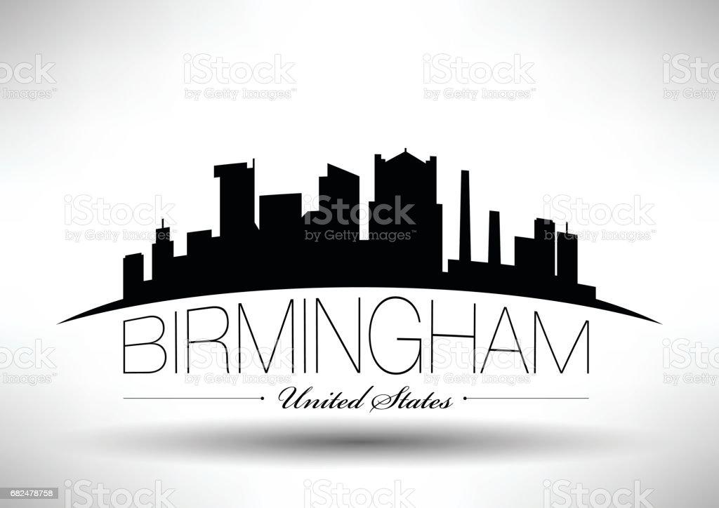 Vector Graphic Design of Birmingham City Skyline vector graphic design of birmingham city skyline - immagini vettoriali stock e altre immagini di affari royalty-free