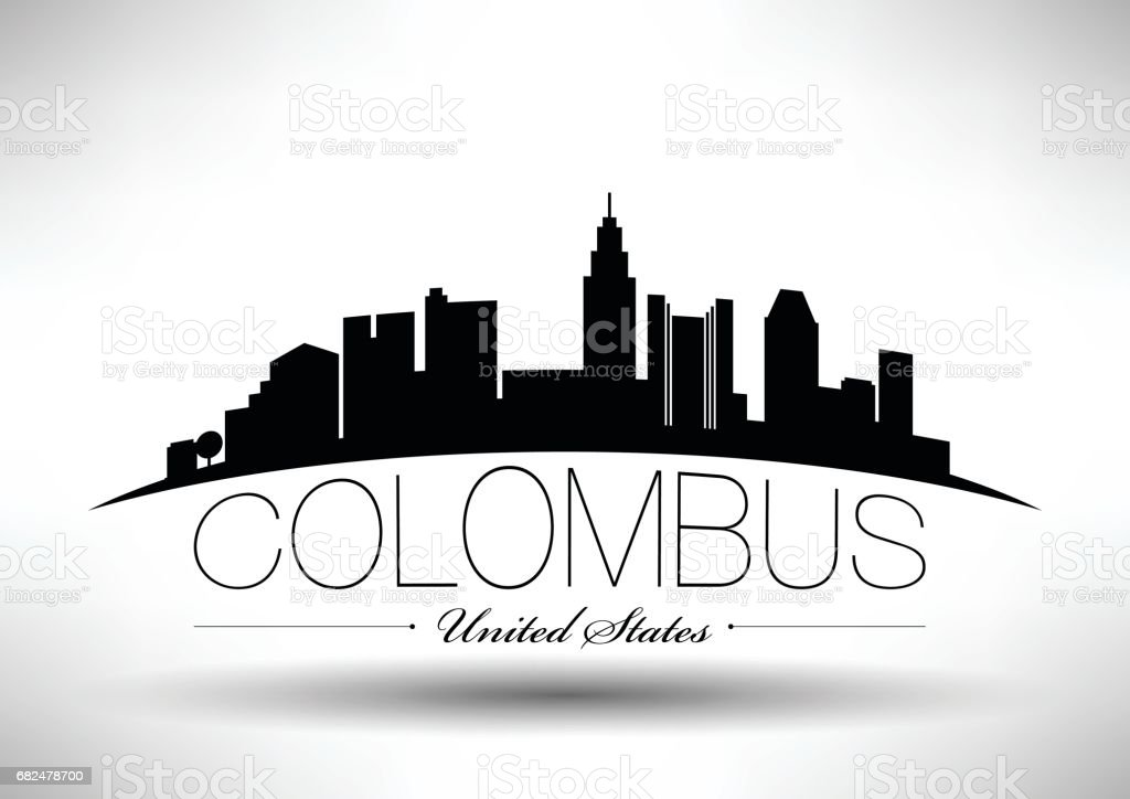 Vector Graphic Design of Colombus City Skyline vector graphic design of colombus city skyline - arte vetorial de stock e mais imagens de ao ar livre royalty-free