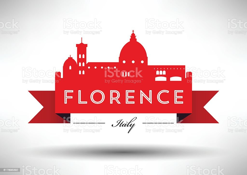 Vector Graphic Design of Florence City Skyline vector art illustration