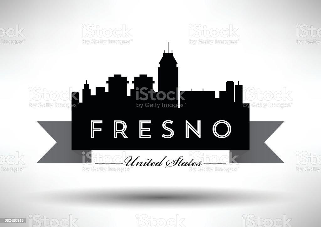 Vektor-Grafik-Design von Fresno City Skyline Lizenzfreies vektorgrafikdesign von fresno city skyline stock vektor art und mehr bilder von architektur