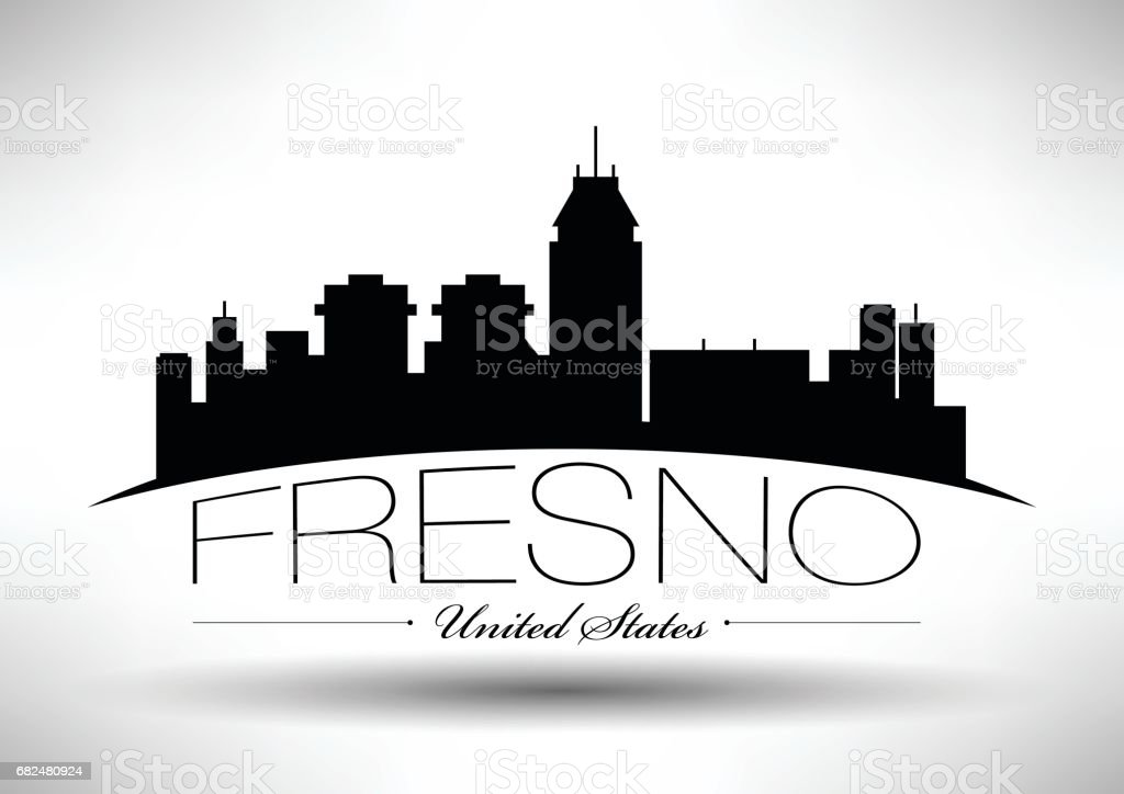 Vector Graphic Design of Fresno City Skyline royalty-free vector graphic design of fresno city skyline stock vector art & more images of architecture