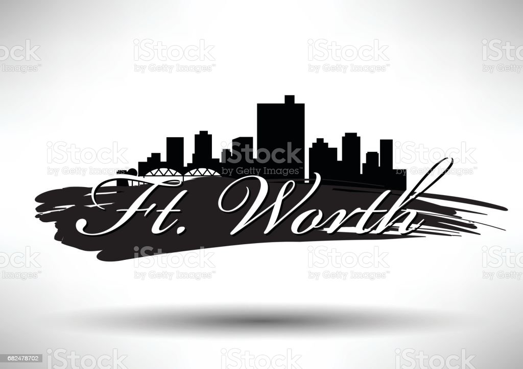 Vector Graphic Design of Ft. Worth City Skyline vector graphic design of ft worth city skyline - immagini vettoriali stock e altre immagini di affari royalty-free