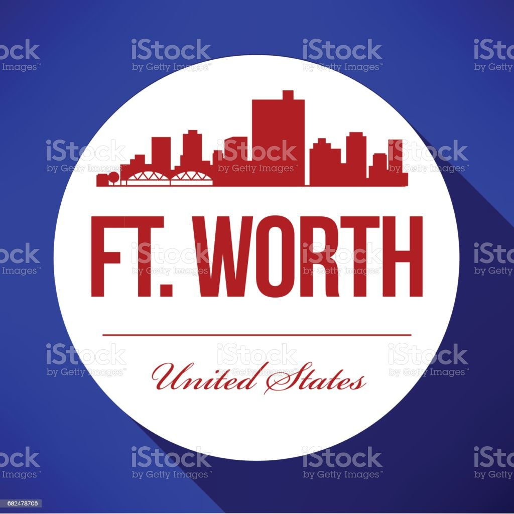 Vector grafische vormgeving van de Skyline van Ft. Worth royalty free vector grafische vormgeving van de skyline van ft worth stockvectorkunst en meer beelden van architectuur