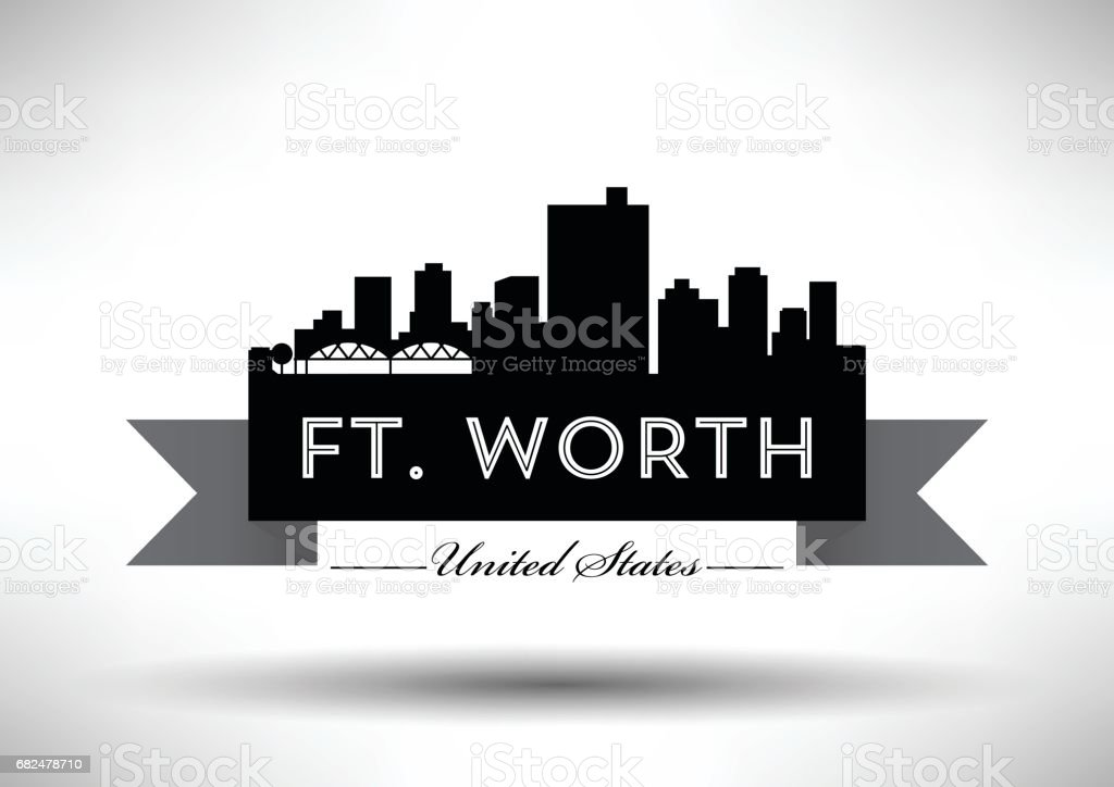 Vector Graphic Design of Ft. Worth City Skyline royalty-free vector graphic design of ft worth city skyline stock vector art & more images of architecture