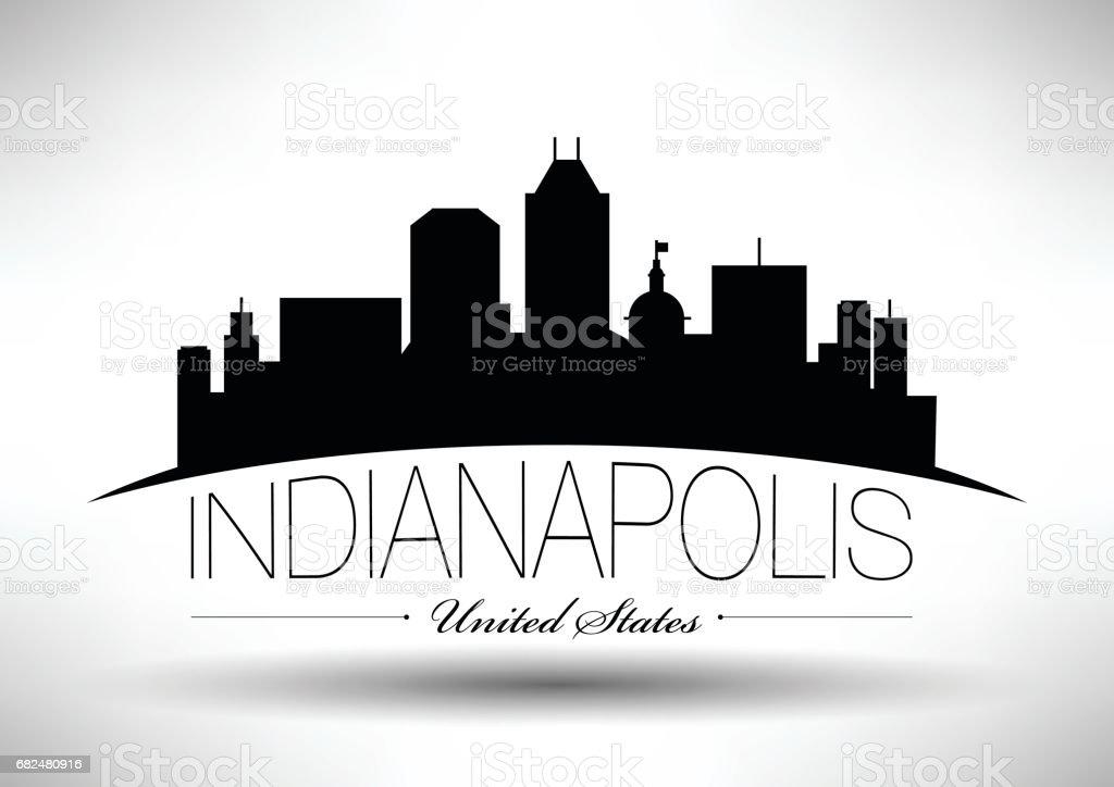 Indianapolis şehir manzarası, vektör grafik tasarım royalty-free indianapolis şehir manzarası vektör grafik tasarım stok vektör sanatı & abd'nin daha fazla görseli