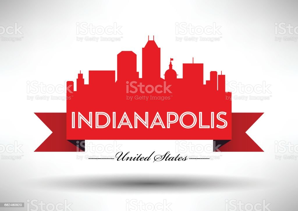 Vector Graphic Design of Indianapolis City Skyline royalty-free vector graphic design of indianapolis city skyline stock vector art & more images of architecture