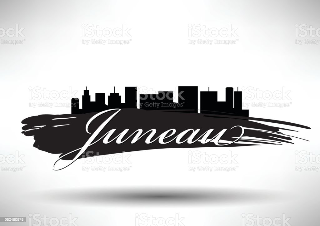 Diseño gráfico vectorial del Skyline de la ciudad de Juneau ilustración de diseño gráfico vectorial del skyline de la ciudad de juneau y más banco de imágenes de aire libre libre de derechos