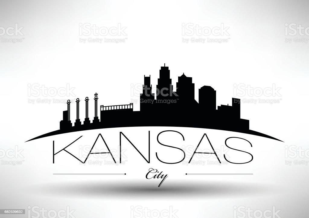 Vektorgrafikdesign Von Kansas City Skyline Stock Vektor Art Und Mehr