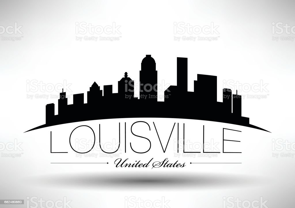 Vector Graphic Design of Louisville City Skyline royalty-free vector graphic design of louisville city skyline stock vector art & more images of architecture