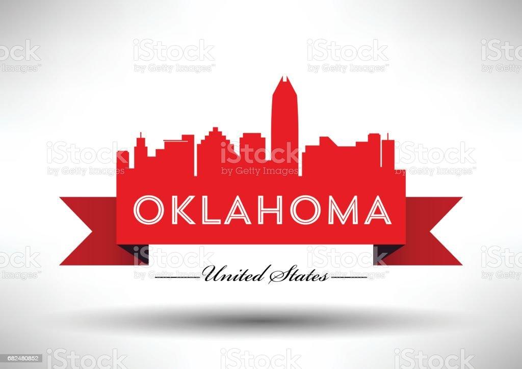 Diseño gráfico vectorial del Skyline de la ciudad de Oklahoma ilustración de diseño gráfico vectorial del skyline de la ciudad de oklahoma y más banco de imágenes de aire libre libre de derechos