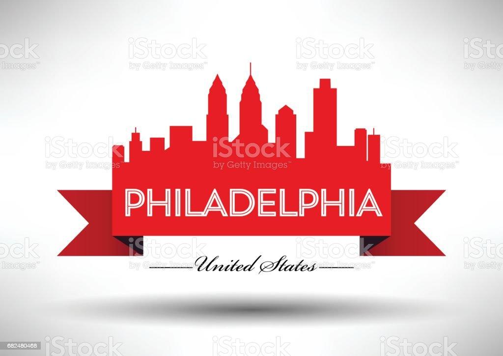 Vector Graphic Design of Philadelphia City Skyline royalty-free vector graphic design of philadelphia city skyline stock vector art & more images of architecture
