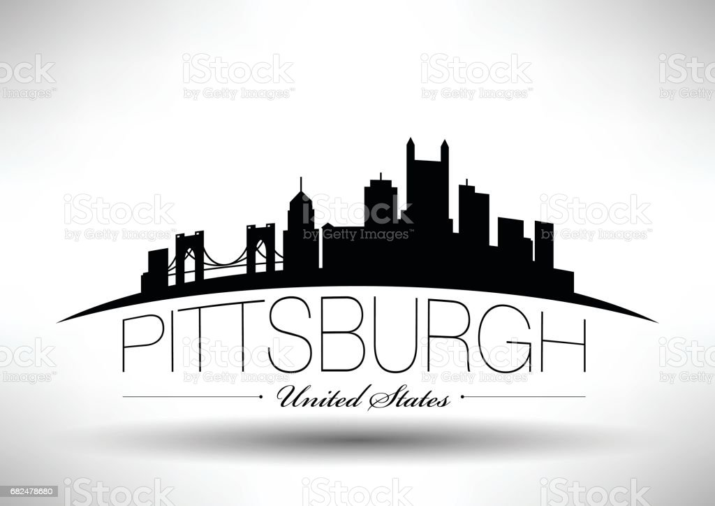 Vector Graphic Design of Pittsburgh City Skyline vector graphic design of pittsburgh city skyline - immagini vettoriali stock e altre immagini di affari royalty-free