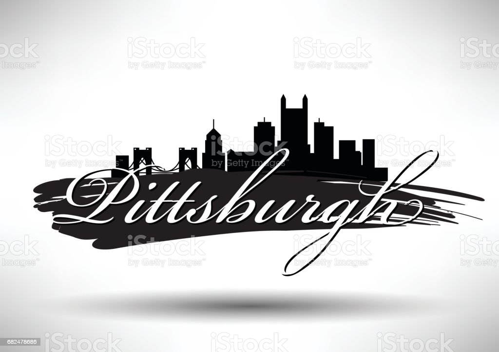 Conception graphique de vecteur de toits de la ville de Pittsburgh conception graphique de vecteur de toits de la ville de pittsburgh – cliparts vectoriels et plus d'images de affaires libre de droits