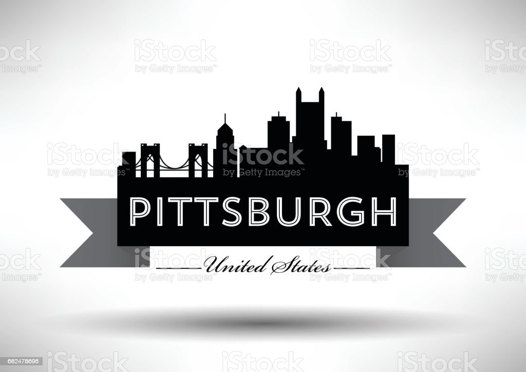 Vector Graphic Design of Pittsburgh City Skyline royalty-free vector graphic design of pittsburgh city skyline stock vector art & more images of architecture